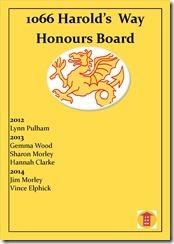 Honours Board 2014