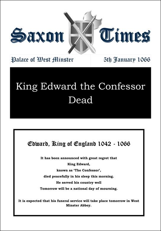 Saxon Times Jan 5 1066