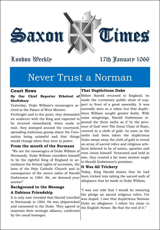 Saxon Times Jan 17 1066