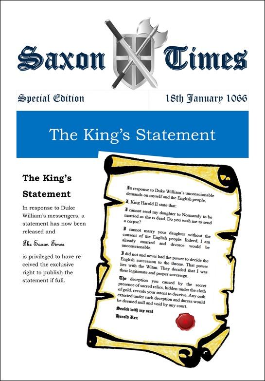 Saxon Times Jan 18 1066