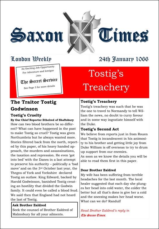 Saxon Times January 24 1066