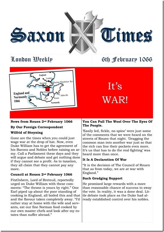 Saxon Times Feb 6 1066
